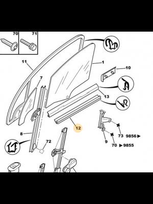 Citroen C3 ruitrubber/pakking NIEUW EN ORIGINEEL 9310.D9