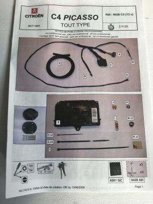 Citroen C4 Picasso kabelset autospecifiek NIEUW EN ORIGINEEL 9428.C3