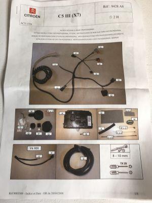 Citroen C5 III kabelset autospecifiek NIEUW EN ORIGINEEL 9428.A8