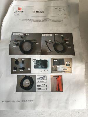 Citroen C5 III kabelset autospecifiek NIEUW ORIGINEEL 9428.F8