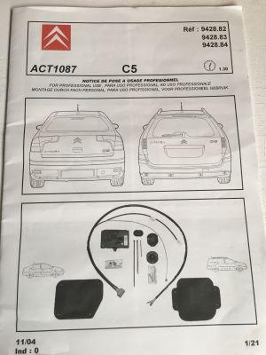 Citroen C5 kabelset autospecifiek NIEUW EN ORIGINEEL 9428.84