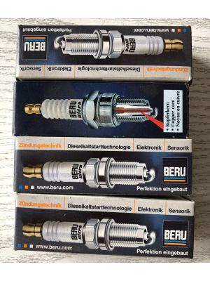 Citroen CX,DS bougies BERU (4X) NIEUW EN ORIGINEEL 0001435700