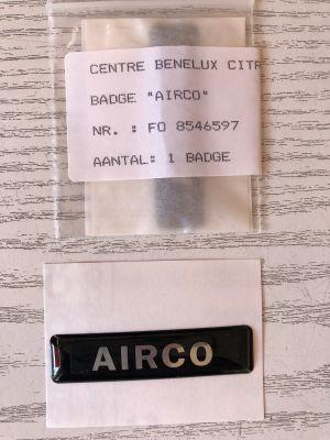 Citroen badge/sticker AIRCO NIEUW EN ORIGINEEL 8546597