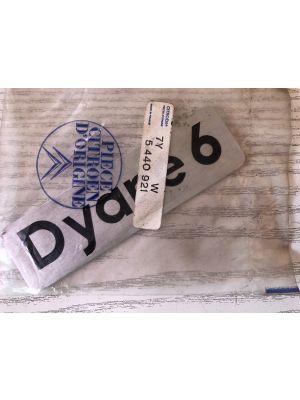 Citroen DYANE 6 embleem NIEUW EN ORIGINEEL 7Y5440921