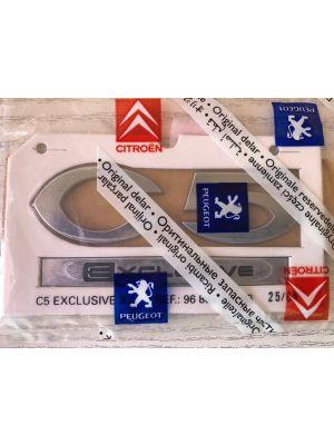 Citroen C5 exclusive embleem NIEUW EN ORIGINEEL 8666.28