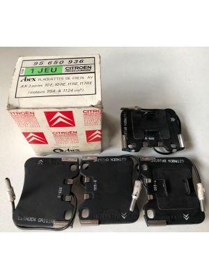 Citroen AX remblokset NIEUW EN ORIGINEEL 95650936