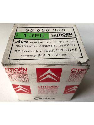 Citroen AX remblokset NIEUW EN ORIGINEEL 95650938