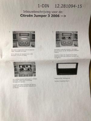Citroen JUMPER inbouwpaneel ISO radio NIEUW EN ORIGINEEL BNL6535457