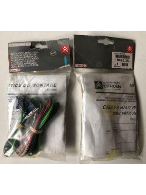 Citroen C3 kabelset luidsprekermontage (achter) NIEUW EN ORIGINEEL 9475.35
