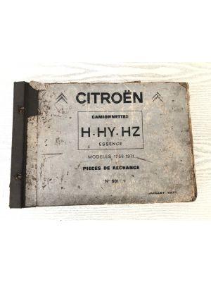 Citroen H,HY,HZ onderdelenboek
