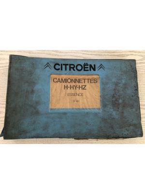 Citroen H,HY,HZ onderdelenboek No 651
