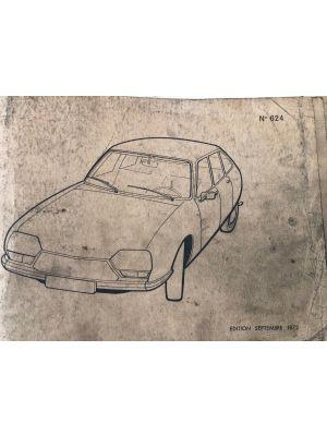 Citroen GS onderdelenboek No 651
