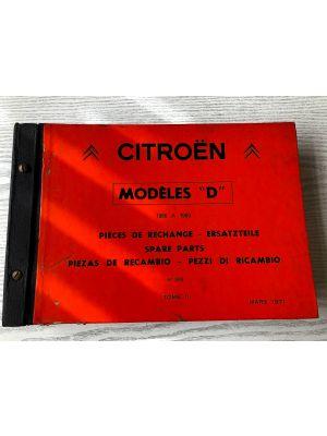Citroen DS onderdelenboek 1966-1969  No 598 Maart 1971 DEEL II