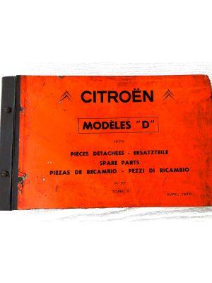 Citroen DS onderdelenboek 1970 No 577 April 1970 DEEL II