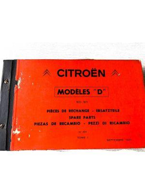 Citroen DS onderdelenboek 1970-1971 No 604 Sept 1970 DEEL I